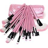 Lychee Beauté 32 Pinceaux de Maquillages Pro pour femme kit d'Accessoires Cosmétiques avec trousse gratuite (rose)