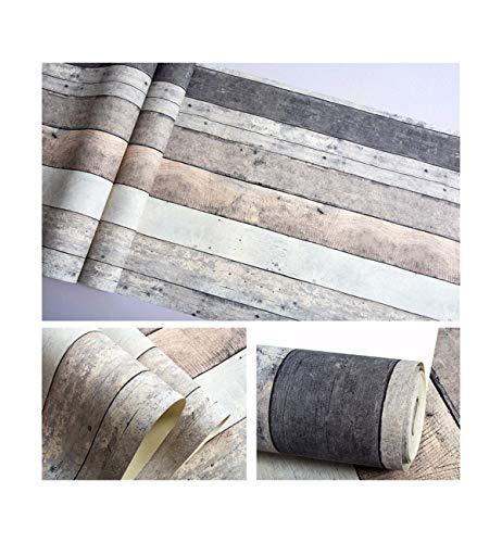 Multi-wallpaper Amerikaans retro nostalgisch gekleurd gespikkeld plank hout behang persoonlijkheid bar restaurant kledingwinkel verticale strepen wit
