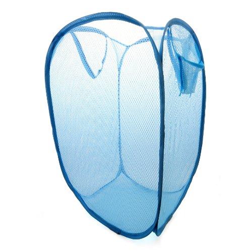 Faltbarer Wäschekorb, Kleiderkorb / Wäschenetz aus Nylon (Dehnbar), Wäschesammler Farbe: blau - Marke Ganzoo