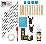 Hand Poke and Stick Tattoo Kit - Clean & Safe Stick & Poke Tattoos -...