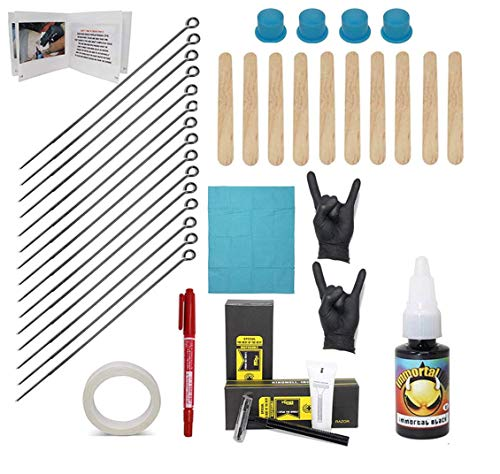 Hand Poke and Stick Tattoo Kit - Clean & Safe Stick & Poke Tattoos - DIY Tattoo Kit (Basic Hand Poke...