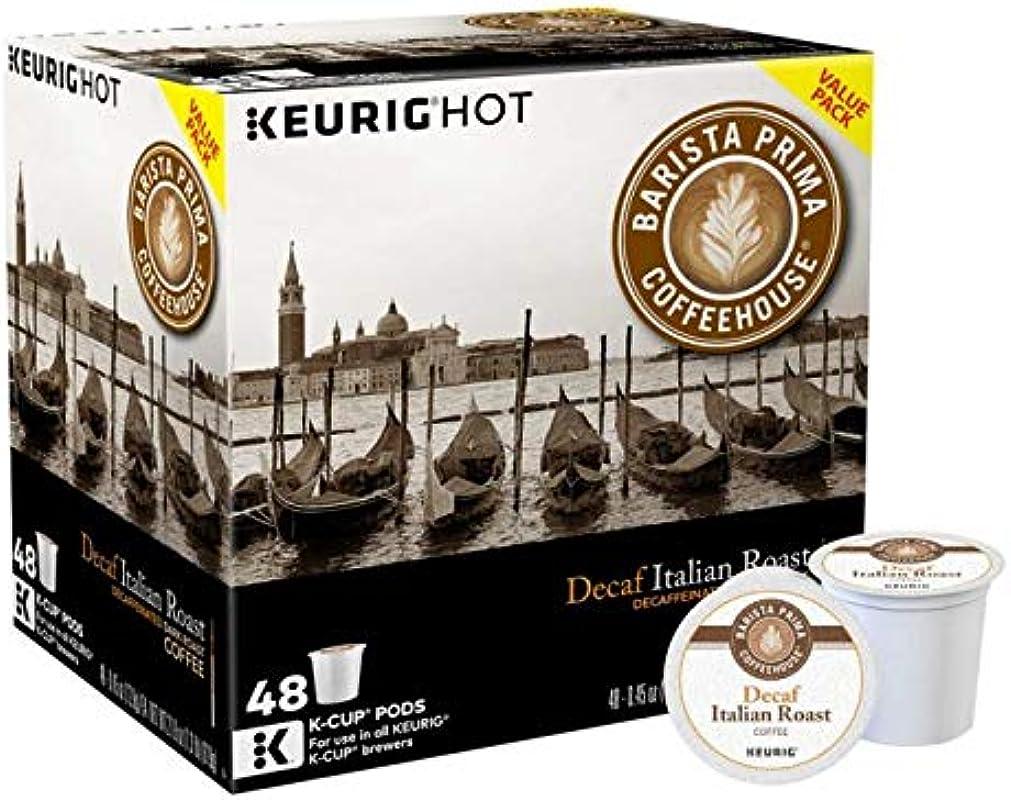 Barista Prima Decaf Italian Roast Coffee K Cups 48 Count