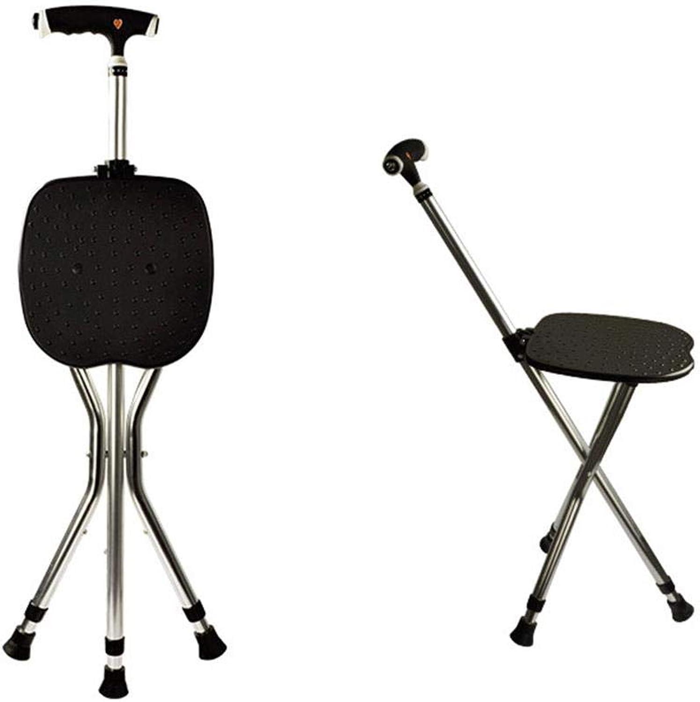 Walking Stick SEAT Aluminum Alloy Tripod Walking Stick with Seat Cane Stool