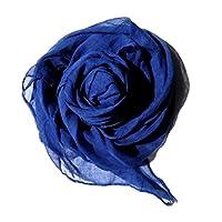 (JOIN・K)【春夏 大判 ストール】レディース 薄手 ストール ショール スカーフ 無地 通勤 シンプル 冷房 UV対策 シフォン ストール 大判 薄手 パステル ブルー