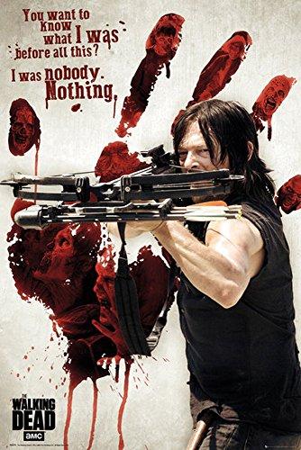 Preisvergleich Produktbild Walking Dead,  The - Bloody Hand Daryl - Filmposter Kino Movie Gruselfilme - Grösse 61x91, 5 cm