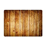 NYDECOR Front Door Mat Indoor Welcome Rustic Old Barn Wood Doormat Non Slip Carpet Flannel Rug for...