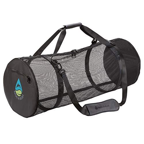 Skog Å Kust SCUBASak Collapsible Mesh Duffle Bag with Exterior Waterproof Pocket