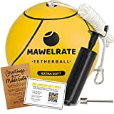 MAWELRATE Tetherball Ball and Rope Set – Perfect Outdoor Game for Kids - Soft Ball - Replaceable Rope - Portable Fun for The Park, Backyard – Attach Tether Ball to Any Pole or Tree with Clip - 1pc
