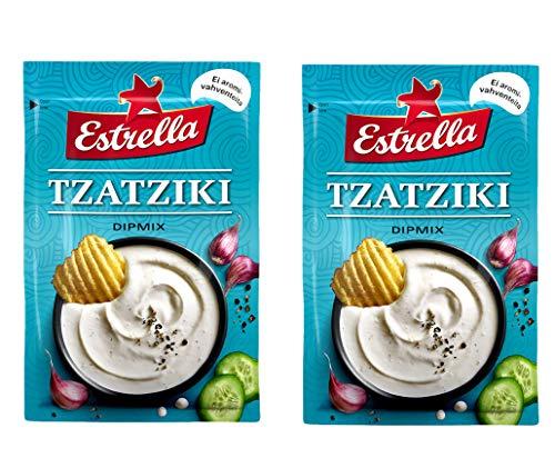 Estrella griega Tzatziki sabor salsa, 15 g - Pack de