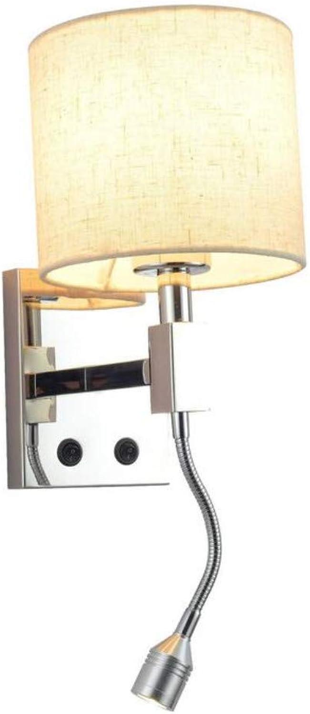 Led Wandleuchte Moderne Einfache Warme Schlafzimmer Nachtwandleuchte Hotelzimmer Mit Schalter Edelstahl Wandleuchte