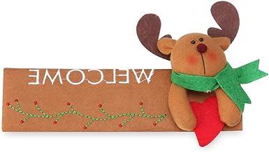 dressplus 24 guantes de 16 cm para manija de puerta, para frigorífico, Navidad, frigorífico, frigorífico, lavavajillas, puerta de Papá Noel, horno de microondas (Elk-Left)