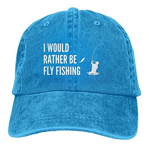 Gymini I'd Rather Be Fly - Gorras de béisbol lavables de algodón para hombre y mujer, color azul