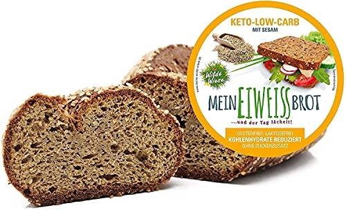 Pan Keto Low Carb - Página de 350 gramos proteica Paleo Atkins Diet 5,7 gr Carbohidratos para 100 gr de pan