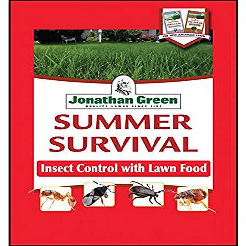 Jonathan Green 12015 Summer Survival Insect Control Plus Lawn Fertilizer, 13-0-3, 15M