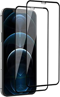 【2枚セット】iPhone 12 pro max ガラスフィルム 強化ガラス フィルム 全面保護 アイフォン12pro max 液晶保護フィルム 日本旭硝子製/硬度9H/高透過率/指紋防止/飛散防止/撥水撥油/簡単貼り付け/3Dタッチ/気泡ゼロ...