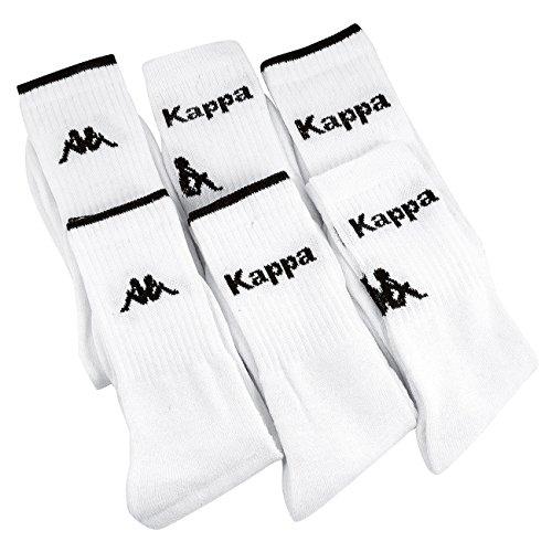 Kappa Calcetines de deporte para hombre blanco