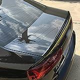 QHWJ ABS Voiture Coffre arrière Toit aileron Aile Queue Coffre Coffre Couvercle lèvre Pare-Brise Aile aileron Modification de Voiture pour Audi A6 C7 2012-2018 2013 2014 2015 2016, Noir Brillant