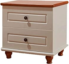 Mediterranean American Country Bedside Drawer Chest of Drawers (Color : White)