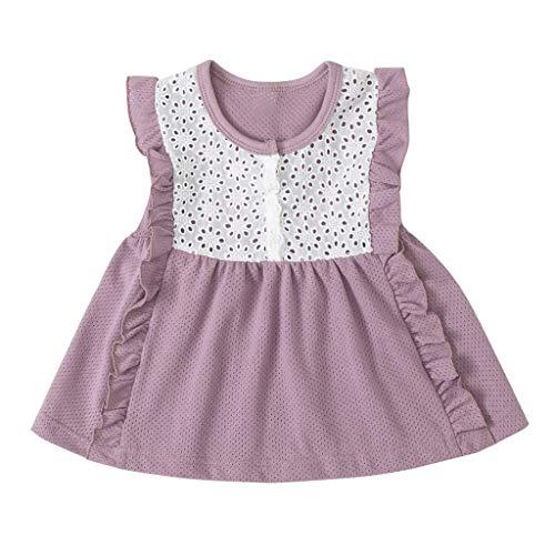 BHYDRY Vestido de la Princesa del Partido del cordón del Tul del Remiendo del Doblez del niño del bebé de la Muchacha del bebé