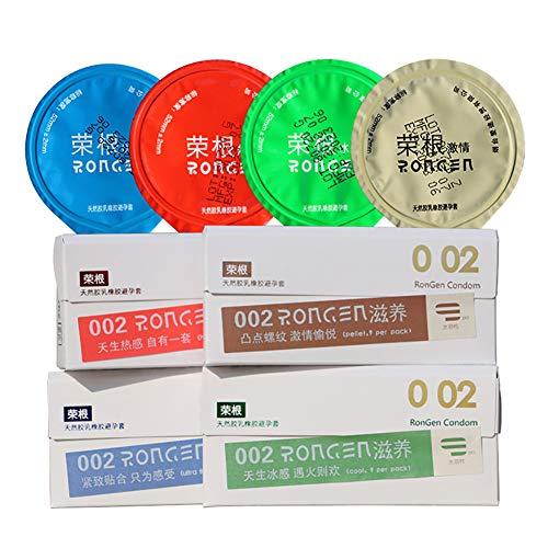 Condones Bareskin Textura Ultrafina Elevada Hielo y Látex Natural Caliente Cubierto con Agua Lubricante Premium 90pcs,All80pcs