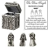 Ganz Angel Prayer Box Trinket - Triple Angels Charm Pewter