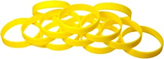 Blank Rubber Silicone Bracelets Select from a Variety of Colors Eventitems 48 pcs Multi-Pack Silicone Wristbands