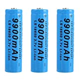 Rechargeable Batteries 18650 Battery 9900mAh 3.7V Li-ion Battery 1000Cycles Long Life 18650 Rechargeable