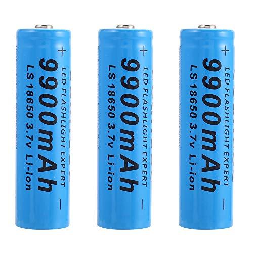 Bateria 18650 Recargable Pilas 3.7V 9900mAh 18650 Recargables Batería Li-Ion De Potencia Pilas Recargables para Linterna LED Herramientas Electrónicas, Azul (4 Piezas)