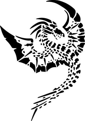 UNLIMITED STENCILS XL Airbrush Tattoo Schablone DRACHE # 131