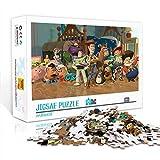 Puzzle para adultos 1000 piezas Toy Story Buzz Lightyear, Woody, rompecabezas de madera, póster de estrella de cine familiar, rompecabezas decoración de pared familiar 75x50cm