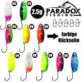 Paradox Fishing Forellen Spoon Set 10 Spoons 2,5g mit Box und 5 Snaps Forellenköder Set zum...