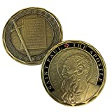 ST. PAUL THE APOSTLE - Catholic Patron Saint Commemorative Challenge Coin. Cast and Colorized with Beautiful Iron Plating & Ancient Bronze. Stunning Original one-of-a-Kind design for the Catholic Chu