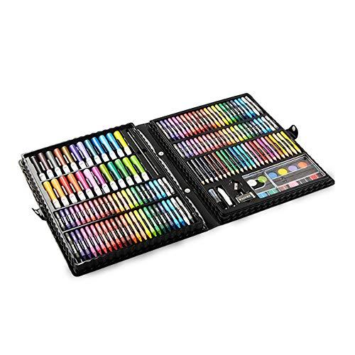 ZXIAQI Kunstsets für Kinder Mädchen Jungen, 218 Stück Kreativität Zeichnung Art Studio Geschenketui für Kinder, Geburtstagsgeschenke für 4 Jährige