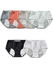 Menstruatieslips Voor Dames, Absorberende Broek Van 6 Stuks, Menstruatieslip/Menstruatieondergoed Voor Vrouwen Met Zware Stroom