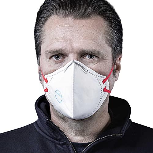 SolidWork 5er Set FFP2 Fold Flat Atemschutzmasken | Masken für Mund- und Nasenschutz | Einzeln verpackte Schutzmasken | Feinstaubmaske, Staubschutzmaske, Staubmaske