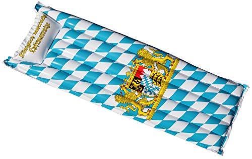 ERRO Luftmatratze - Königlich bayrische Badematratze - Top Wiesn Geschenkidee - Ausgefallenes Souvenir aus Bayern oder Geburtstagsgeschenk, Oktoberfest
