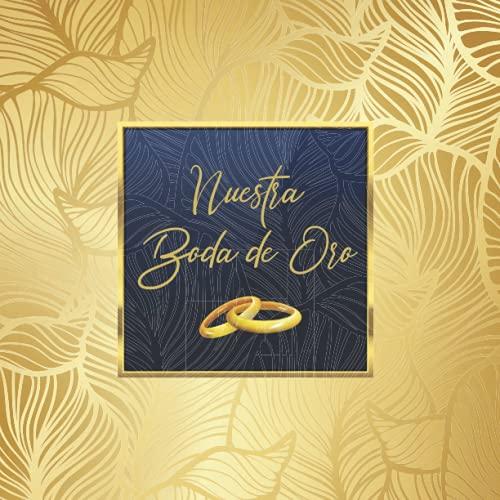 Libro de firmas para bodas de oro: Para recuerdos de invitados por...