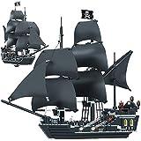 FXQIN Barco Pirata 3D Puzzles Juguete de Montaje Model Kit Caribe Negro Perla del Barco Pirata del Rompecabezas 3D Kit De Construcción De Maqueta de Barco con 6 Mini Figuras Piratas,875 Piezas