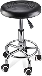 Salon Round Chair PU Swivel Lift Stool Barber Massage Hairdressing Styling SGS Approved