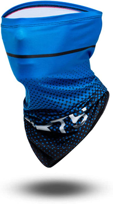 Cooling Neck Gaiter Face Cover Blue Bandana for Men Women UV Protection Summer Outdoor Activities Running Cycling Baseball Football, 1 Set (Dark Blue)
