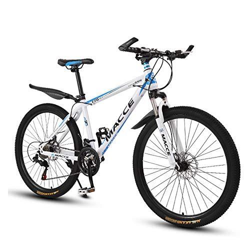26 Zoll Sport Mountainbike Scheibenbremsen Hardtail MTB, Vollfederung Mountain Bike, Trekkingrad Herren Bike Mädchen-Fahrrad,27 Speed