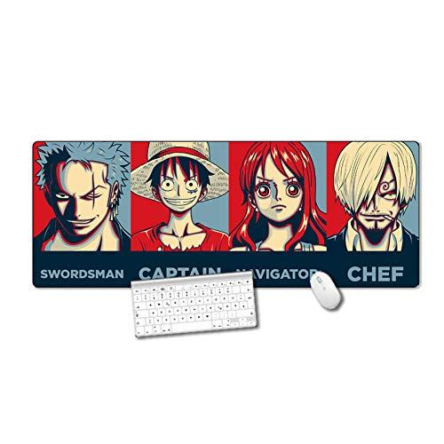 Alfombrilla Anime de Ratón Extendida Mousepad Tapete de Escritura Estera Oficina Alfombrilla de Escritorio Protector Escritorio, Cuero PU Impermeable + Gamuza Antideslizante (90 x 40 cm ) -2_800x300MM