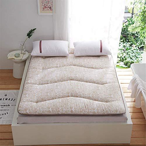 GJP Colchón de Piso con Estampado Grueso Antideslizante Tatami japonés colchón de futón Plegable Acolchado colchón Doble Individual no deformado Duradero para Acampar de Yoga etc.C-150x