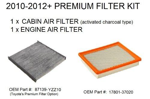Prius Premium Engine Air Filter and Cabin Air Filter KIT - Prius 2010, 2011+ All Models - One Engine Filter & One PREMIUM Cabin Air Filter