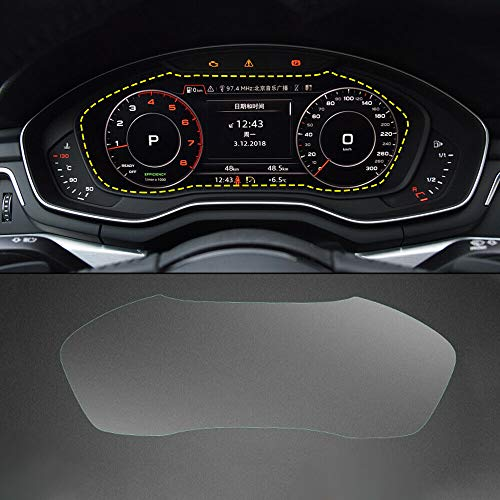 2 PCS/Pack Instrument Panel Screen Protector Foils, for Audi A4 B9 Q5 FY Dashboard Display, Tempered Glass Film 9H Anti-Scratch Shock Water Fingerprint Resistant Protector