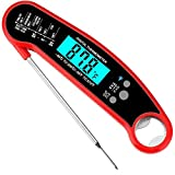 Nescope Digital Meat Thermometer Instant Read Waterproof Food Thermometer BBQ Thermometer with Backlight Magnet Calibration Thermometer for Kitchen Outdoor Cooking BBQ Grill Candy