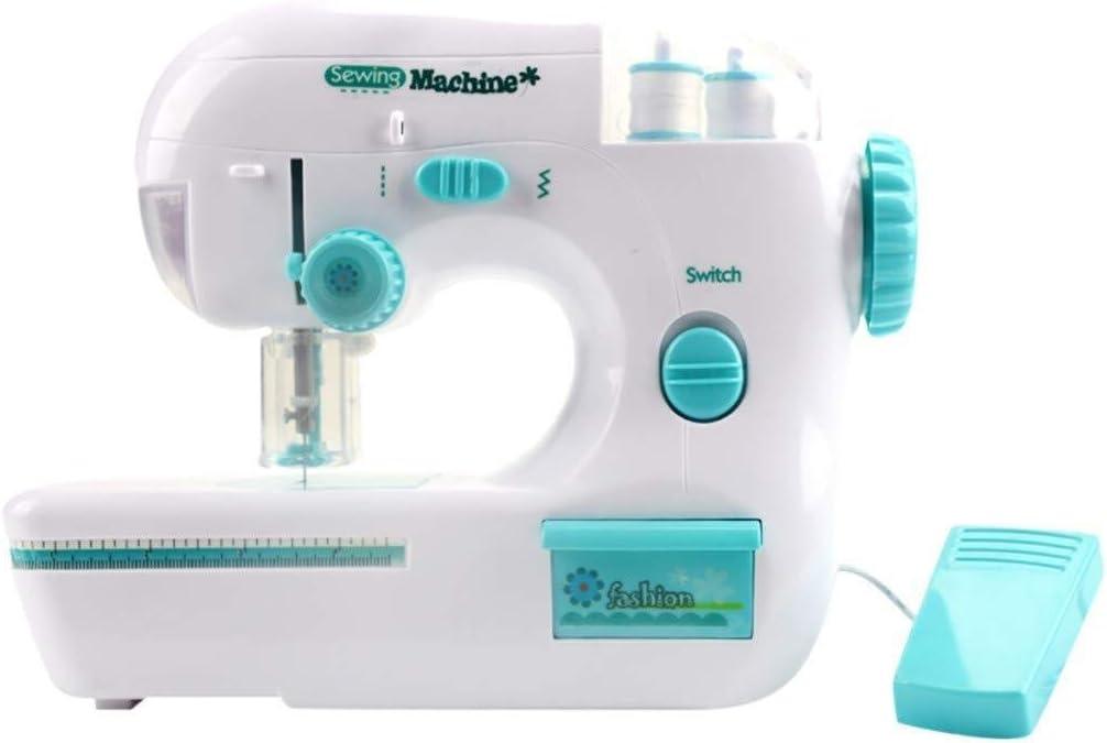 MGWA Máquina de coser portátil de escritorio mini máquina de coser eléctrica tamaño mini para principiantes adornos