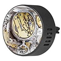 2pcsアロマセラピーディフューザーカーエッセンシャルオイルディフューザーベントクリップ真ちゅう製時計ワークパイルクロック