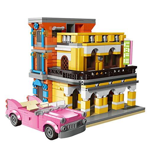 ColiCor Modelo de Construcción de Bloques 650 Pcs Cafetería Edificios de Juguete Construcción Edificio de Ladrillos Conjunto de Bloques, Compatible con Lego