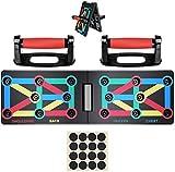 Risefit Push Up Board - 9 in 1 Body Building Rack Fitness Esercizio completo Tavola di allenamento Allenamento in palestra Muscle Board Attrezzatura per il fitness a casa Maniglie per flessioni